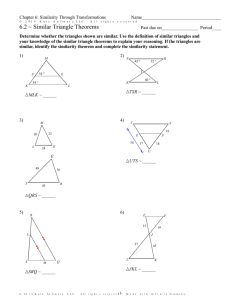 7.3 Proving Triangles Similar