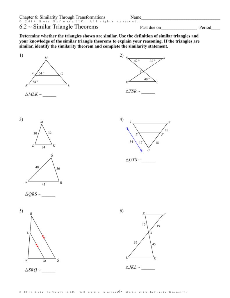 Infinite Geometry - 6.2 ~ Similar Triangle Theorems