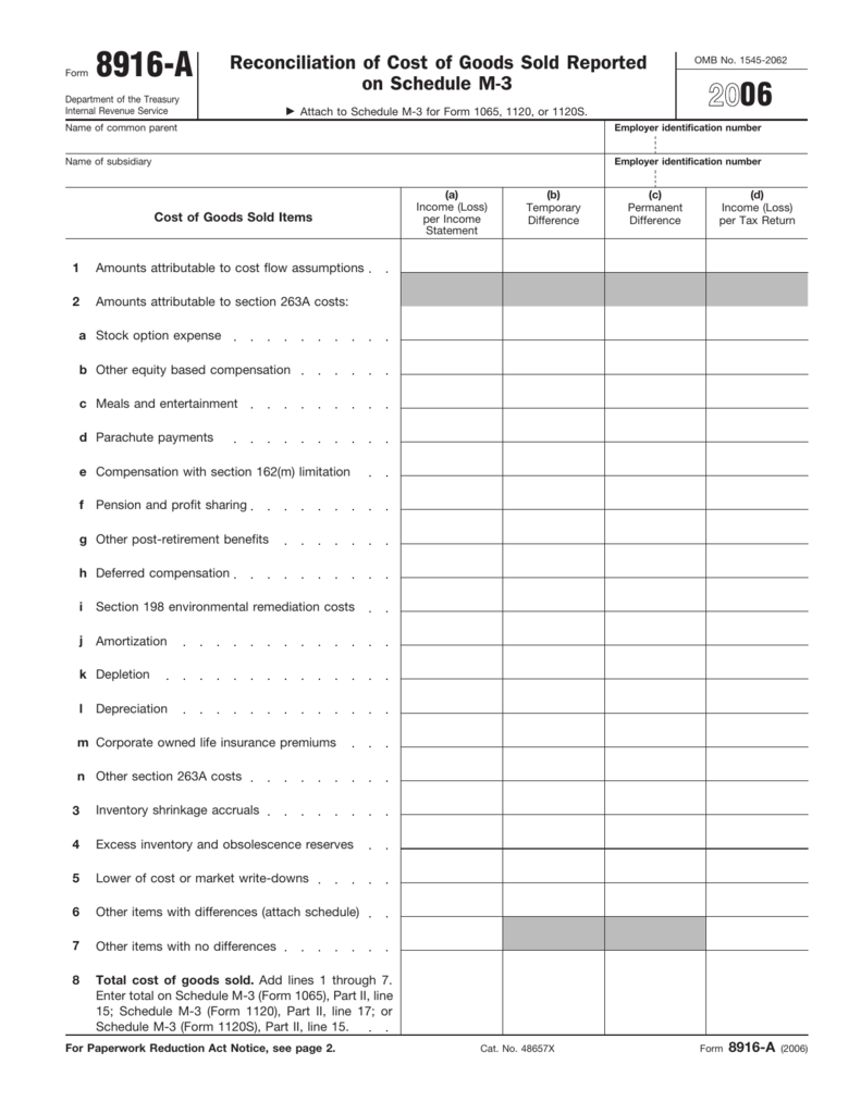 form 1065 cost of goods sold  7 Form 7-A (Fill