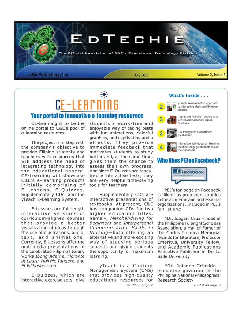 the PDF file of this issue  - Philippine E