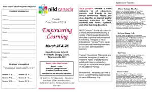 Empowering Empowering Learning - National Institute for Learning