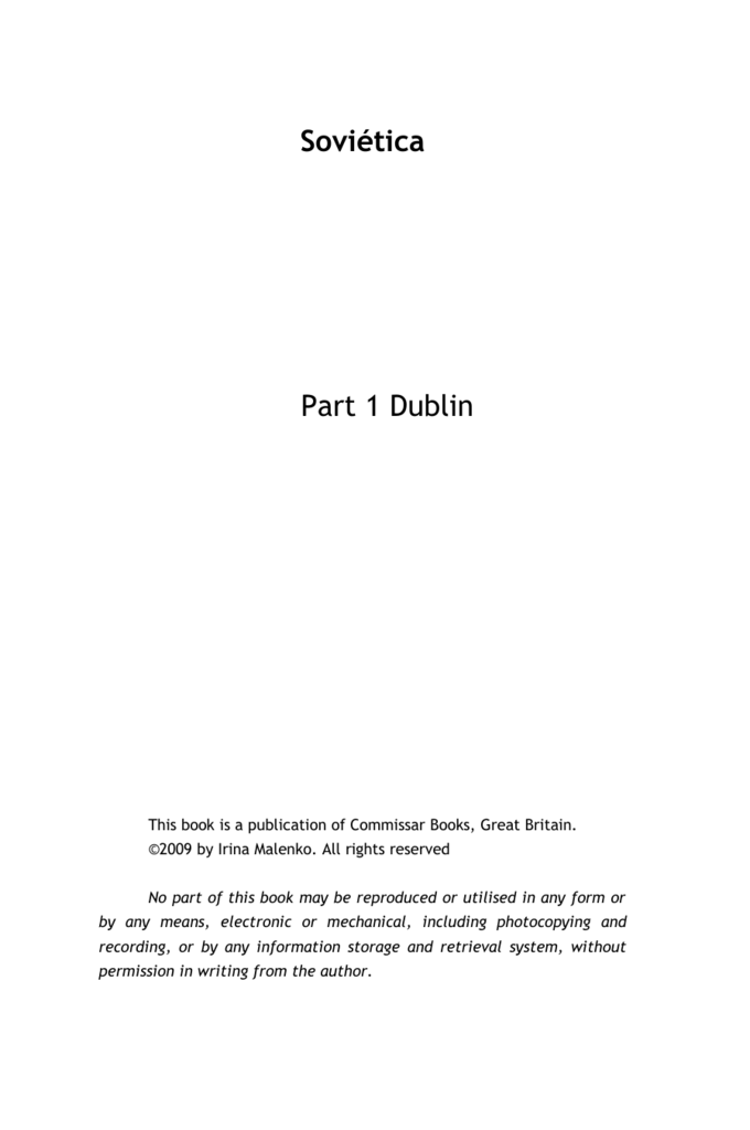 Sovitica Part 1 Dublin