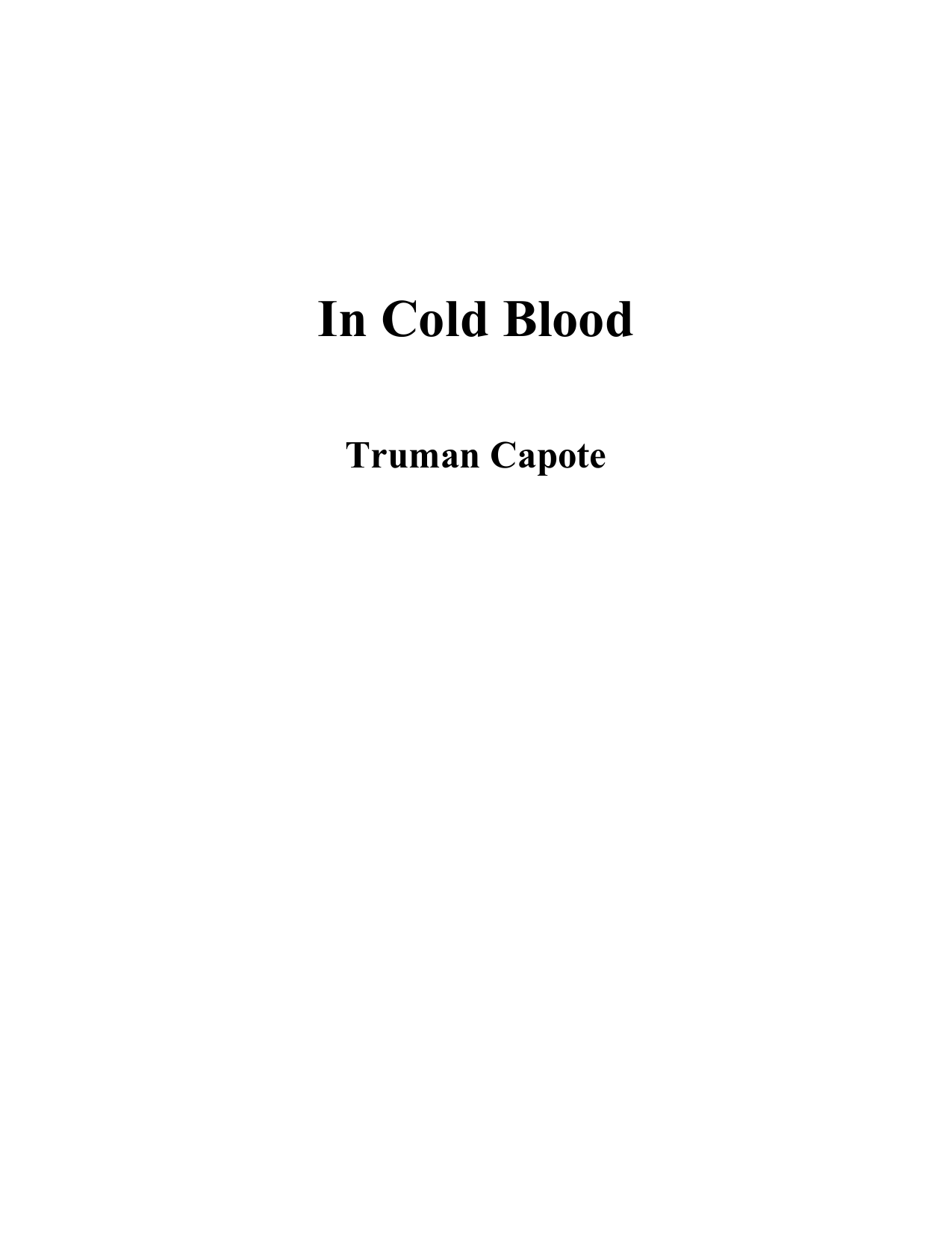 In Cold Blood - Truman Capote afdbe2550725