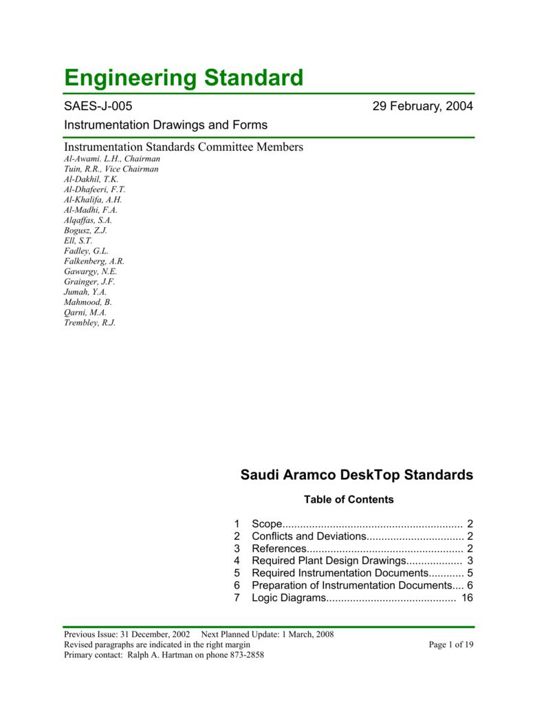 Saudi Arabian Engineering Standards(SAES-J-005)