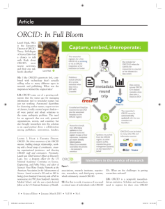 ORCID: In Full Bloom