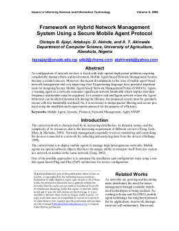 Framework on Hybrid Network Management System Using a Secure