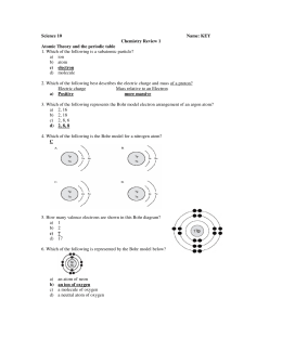 Science 10 Name: KEY Chemistry Review 1 Atomic Theory and the