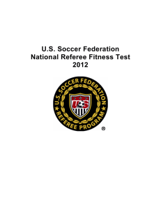 U.S. Soccer Federation National Referee Fitness Test 2012