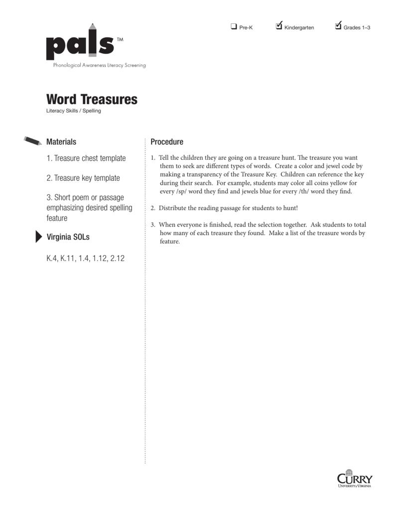 word treasures