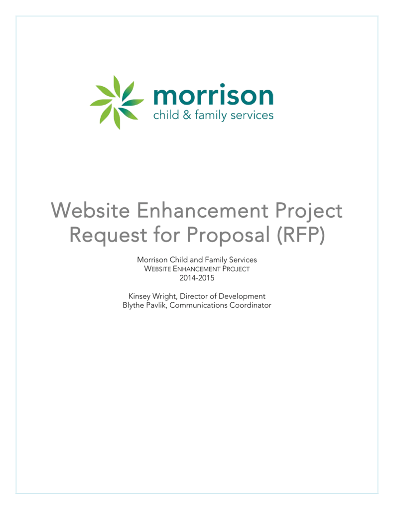 Website Redesign: Request for Proposal (RFP) - Morrison