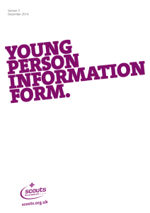 Young Person Information Form - Scouts.org.uk