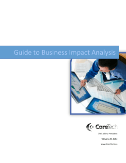 Guide to Business Impact Analysis