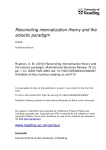 Reconciling internalization theory and the eclectic
