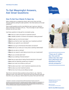 To Get Meaningful Answers, Ask Great Questions