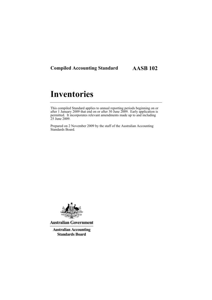 aasb 102 inventories