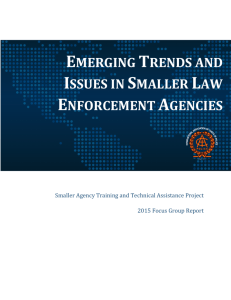 emerging trends and issues in smaller law enforcement agencies