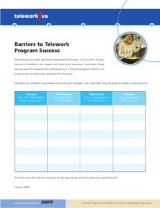 Barriers to Telework Program Success