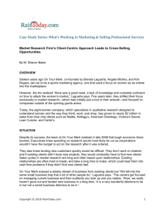 Case Study Series: What's Working in Marketing & Selling