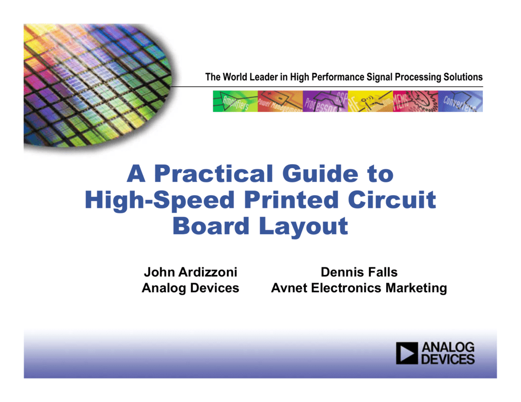A Practical Guide To High Speed Printed Circuit Board Layout Diagram