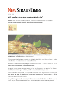 Will special interest groups hurt Malaysia?