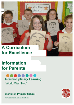 Parent Leaflet WW2 - Clarkston Primary School