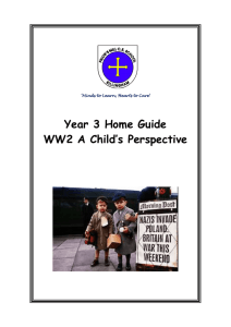 Year 3 Home Guide WW2 A Child's Perspective