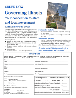 Governing Illinois