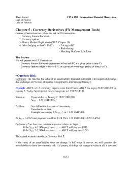 Chapter 5 - Currency Derivatives (FX Management Tools)