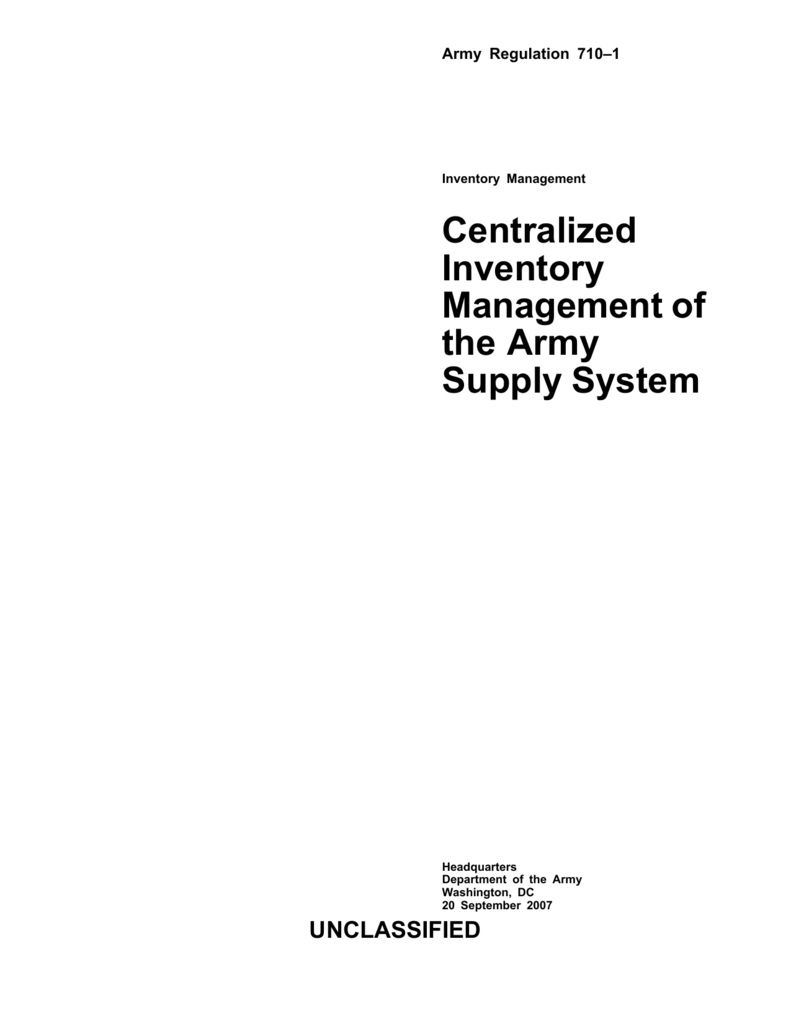 Centralized Inventory Management Of The Army Supply M105 Military Trailer Wiring Diagram