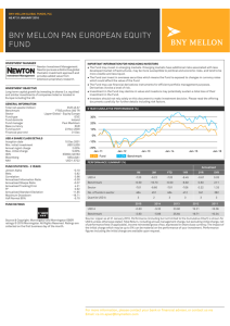 BNY MELLON PAN EUROPEAN EQUITY FUND