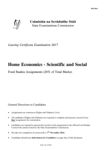 LC 2017 Home Economics Food Studies