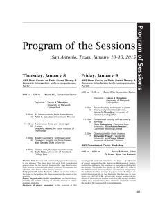 Program of the Sessions - Joint Mathematics Meetings