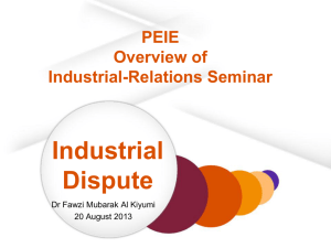 Industrial-Relations Presentation 20 Aug 2013