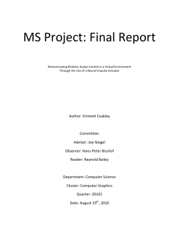 Final Report - Insert Life Here