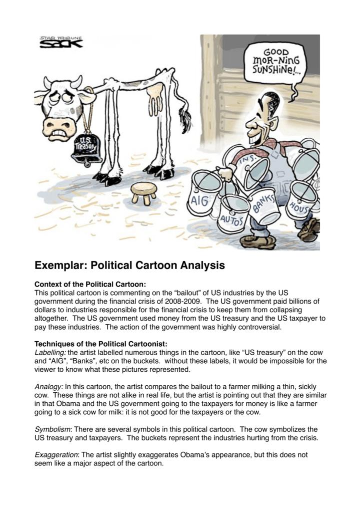 Political Cartoon Exemplar