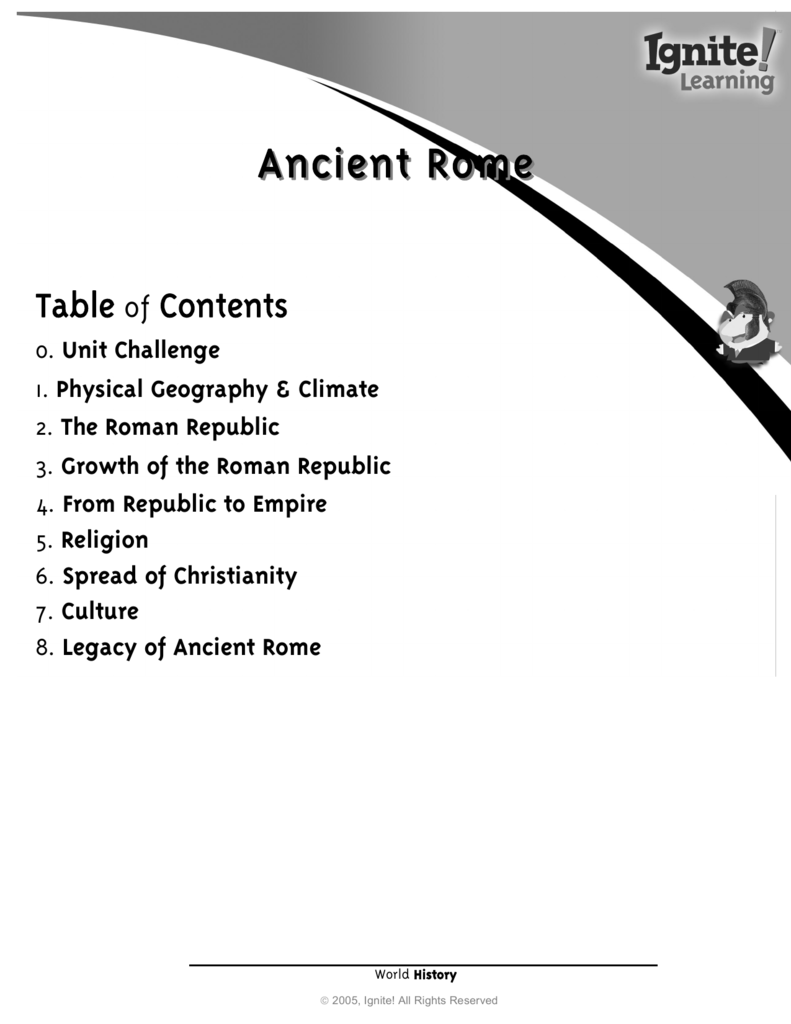 Ancient Rome - Ignite! Learning