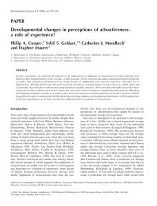 PAPER Developmental changes in perceptions of attractiveness: a