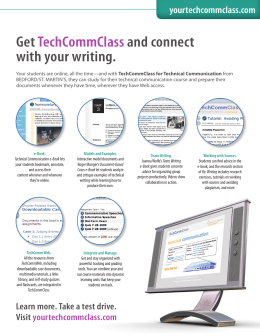 Get TechCommClass and connect with your writing.