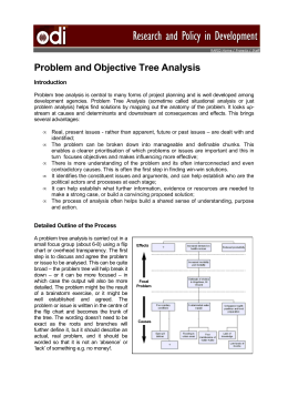 Problem and Objective Tree Analysis