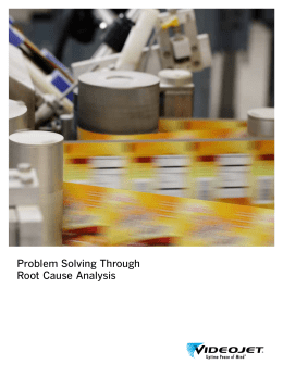 Problem Solving Through Root Cause Analysis