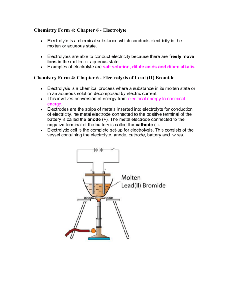 Chemistry Form 4: Chapter 6