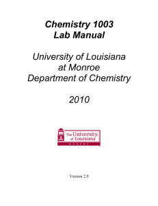 Contents - University of Louisiana at Monroe