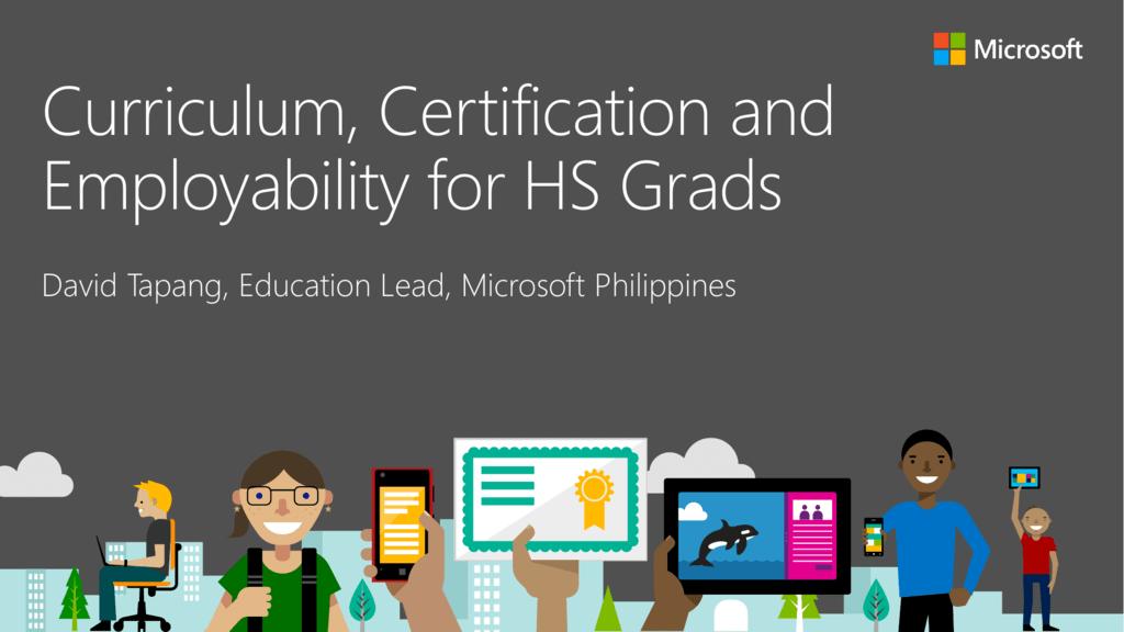 David Tapang Curriculum Certification And