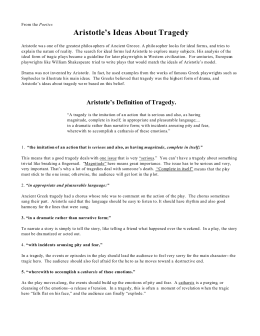 the analysis of hamlet from the context of aristotles poetics This is a hamlet study guide the play was written by you can find hamlet study guide answers and hamlet summary william shakespeare the true nature of hamlet's madness has been an issue of debate for scholars over the centuries.