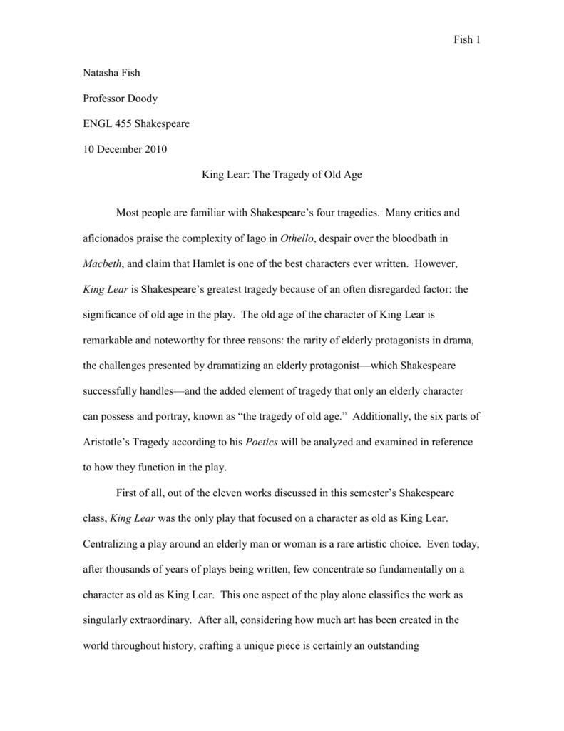 king lear essay outline
