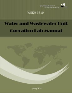 Water and Wastewater Unit Operation Lab Manual