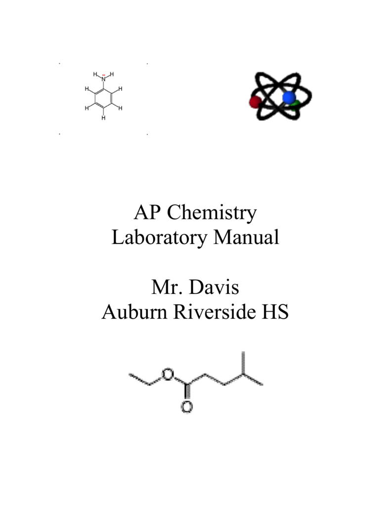 AP Chemistry Laboratory Manual Mr  Davis Auburn Riverside HS