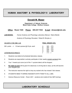 HUMAN ANATOMY & PHYSIOLOGY II LABORATORY Donald M