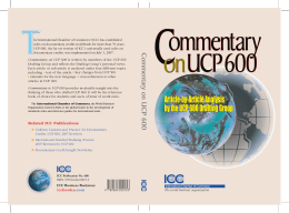 Commentary on UCP 600 Commentary UCP 600