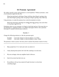 10. Pronoun Agreement